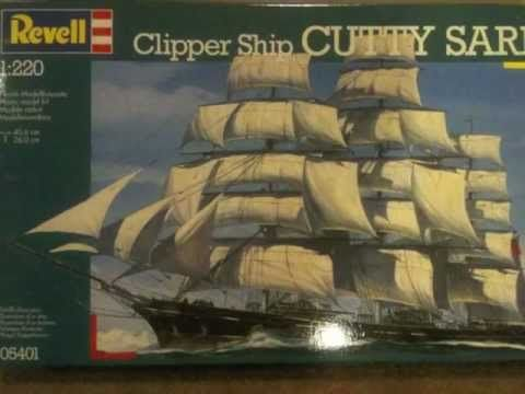 Revell Cutty Sark 1:220 (half finished)
