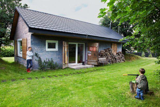 To była stodoła w Górach Świętokrzyskich, teraz jest przytulny dom.