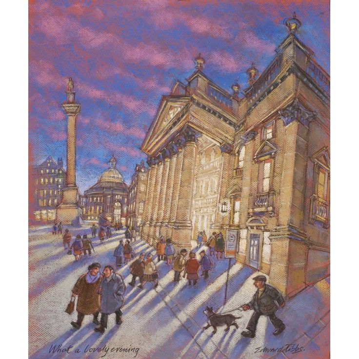 What a lovely Evening - Newcastle signed limite4d edition print by Edward Tibbs