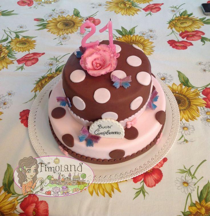 Torta pois e farfalle... cake design