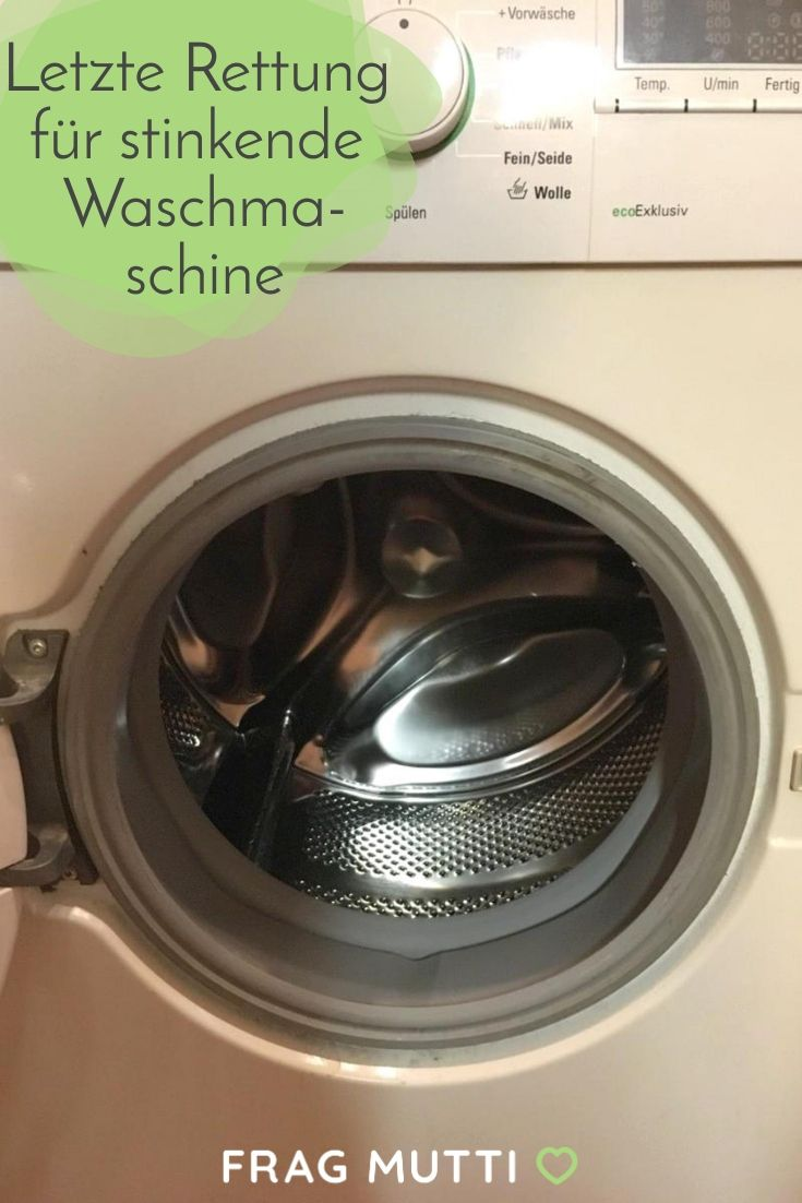 Letzte Rettung für stinkende Waschmaschine
