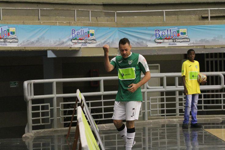 Real Antioquia celebra su pase a la final de la Liga Argos Futsal.