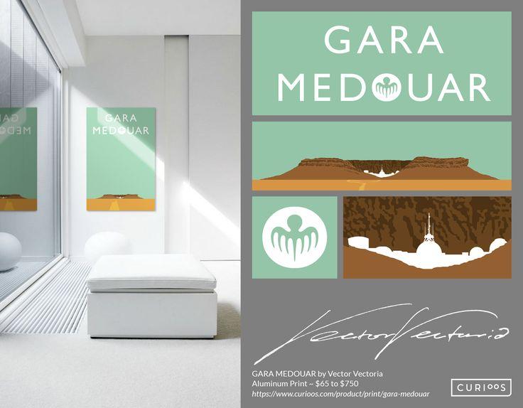 GARA MEDOUAR - First of a new wall art collection by Vector Vectoria. Exclusively @ https://curioos.com/product/print/gara-medouar