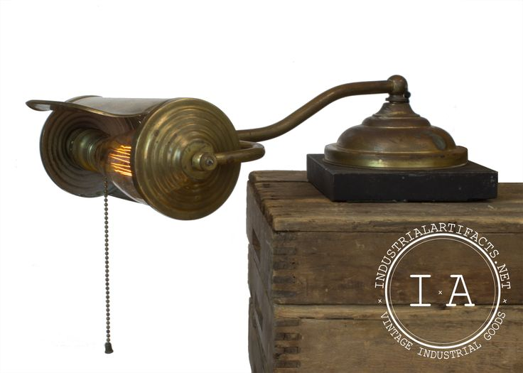 Vintage Industrial Faries Brass Piano Lamp Bankers Table Desk Light Steampunk