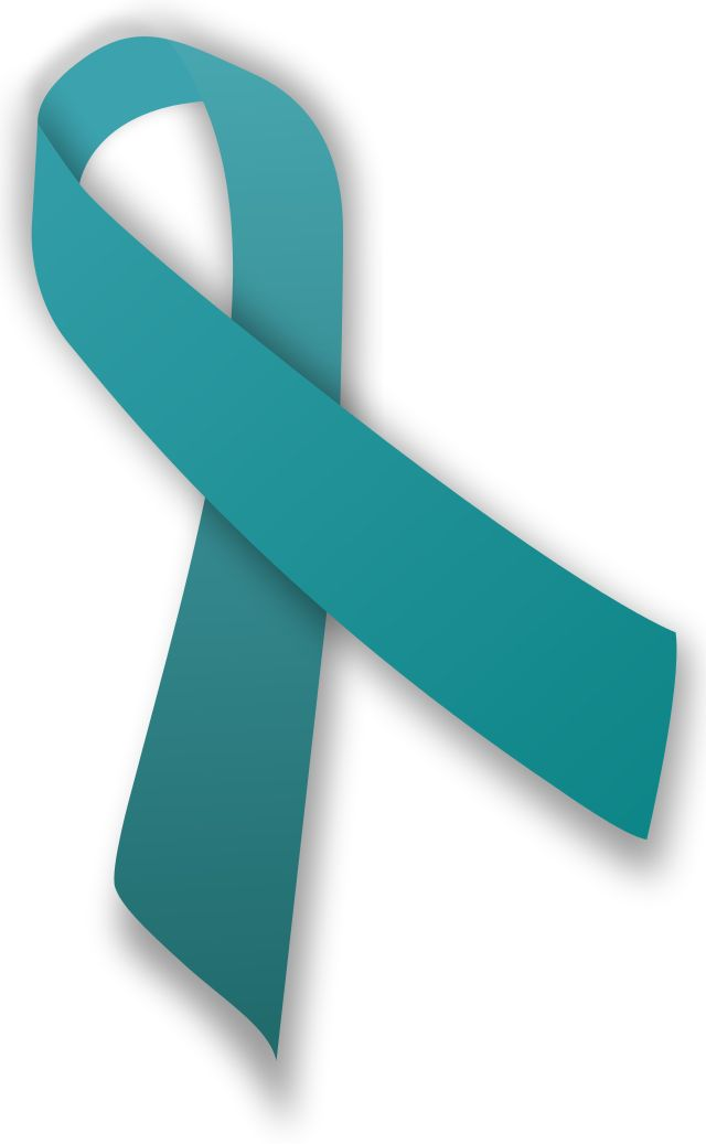 Teal ribbon for anxiety awareness