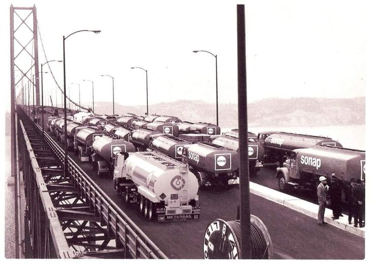 Ponte Salazar, teste de carga, 1966