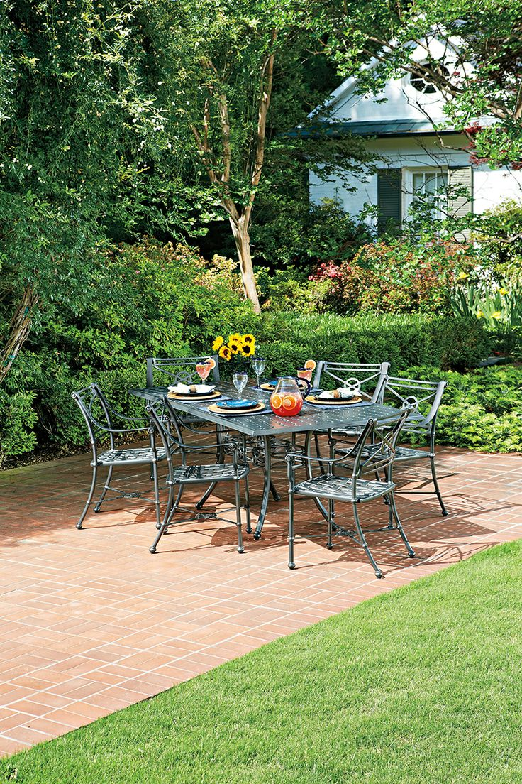 The Delphi Collection From Woodard Aluminum Outdoor Dining Furniture Outdoor Furniture