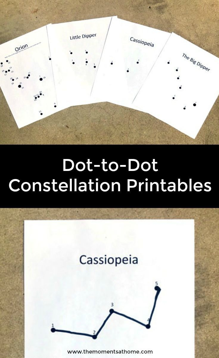 photograph relating to Constellation Printable titled Dot-towards-Dot Printables Constellations for Youngsters Routines