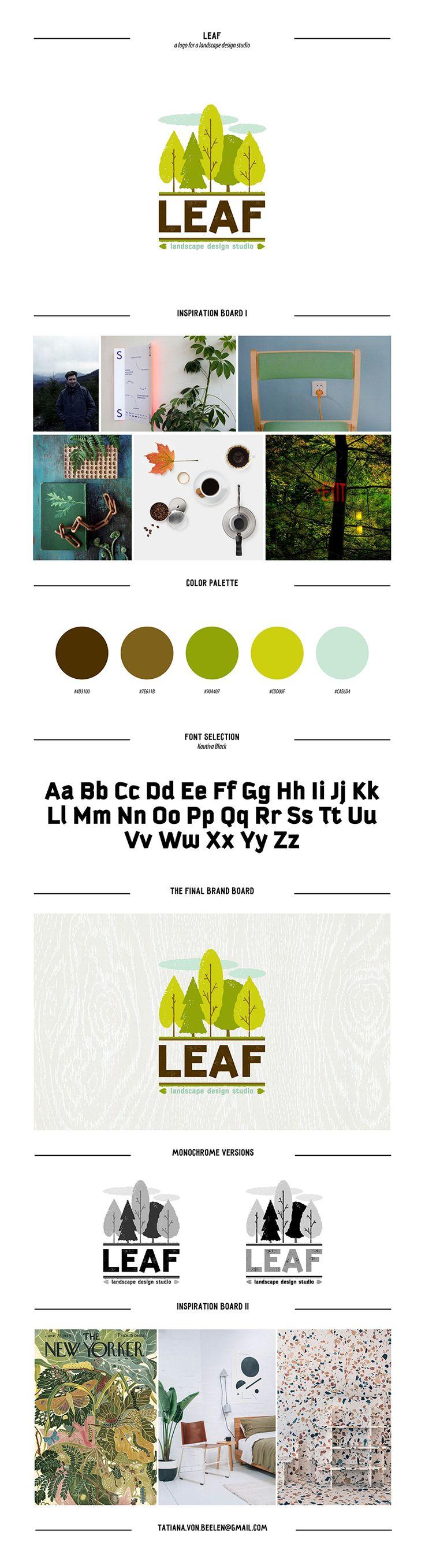 Leaf landscape design studio logo on Behance