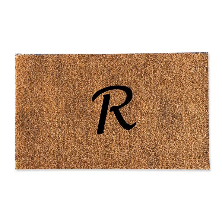 A1HC First impression Plain Monogrammed Doormat