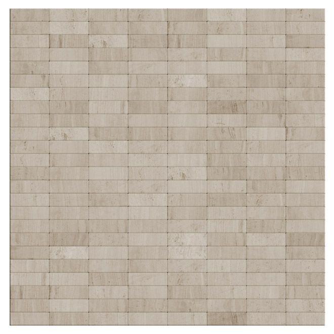 Speedtiles Self Adhesive Stone Tile Snowy White Rona Backsplash Tiles Mosaic Tiles