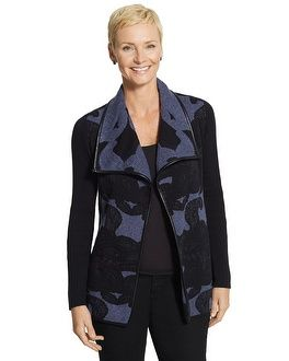 Chico's Bold Jacquard Ginger Cardigan #chicosweeps