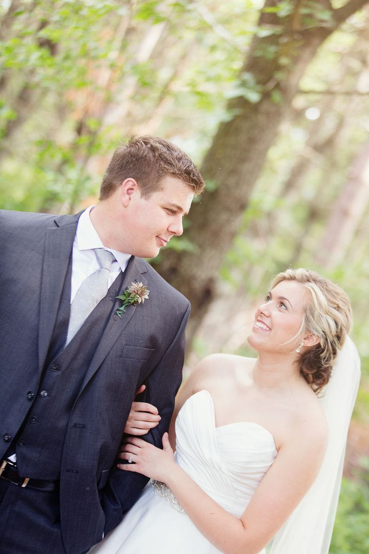 Rustic bride and groom in woods; Photo cred: Hillary McCormack Photography