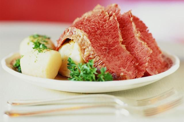 What is Corned Beef? In the culinary arts, corned beef is made by curing a brisket of beef in brine with ... Read the definition of Corned Beef.