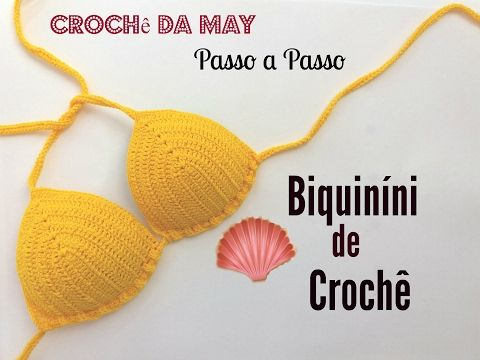 DIY - Biquíni de Crochê Super Fácil Passo a Passo - YouTube