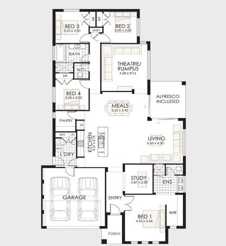 Planos de casas de un piso incluye las fachadas de for Viviendas modernas planos