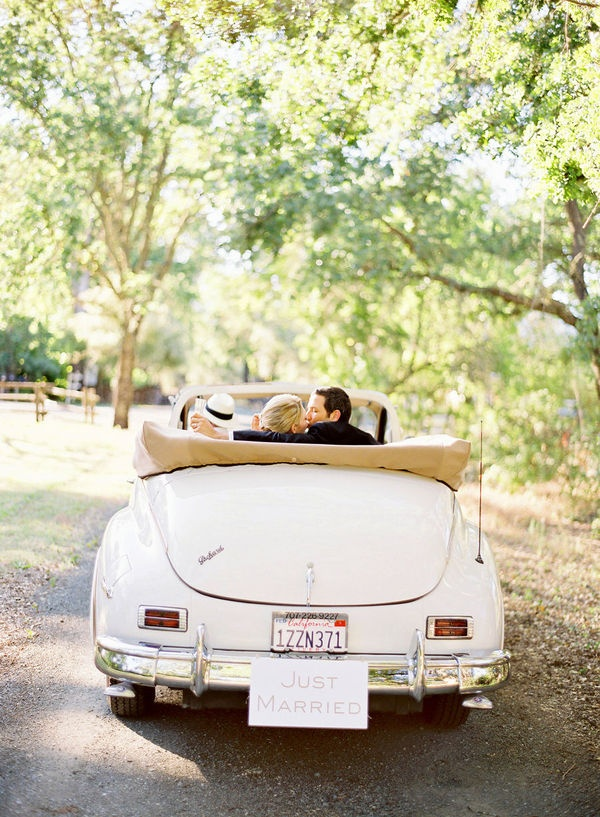This is the kind of car I want to depart my wedding in. Photo by Jose Villa