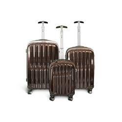 SET 3 VALISES SYNTHETIQUE ABS KINSTON MARRON CADENAS TSA