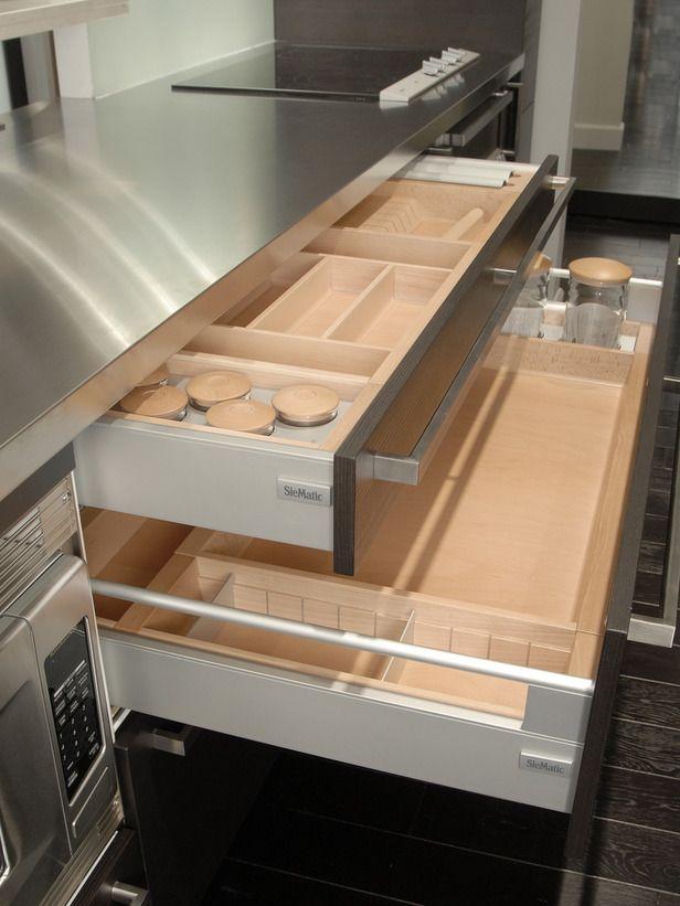 Storage Keeps Getting Smarter - Dreamy Kitchen Storage Solutions on HGTV - Drawers are wonderful.