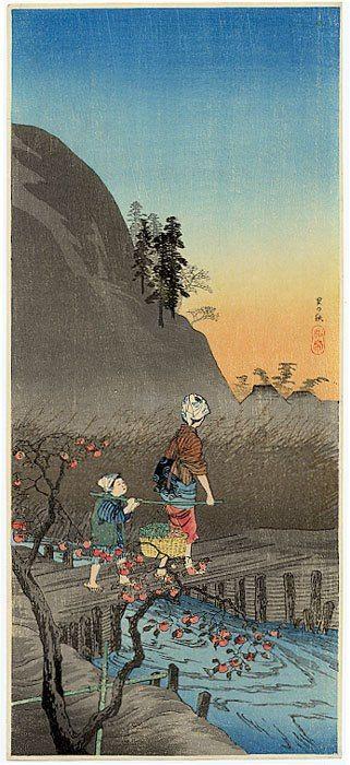 """The country in autumn"", Takahashi Hiroaki (Shotei) (1871-1945) - ca. 1930."