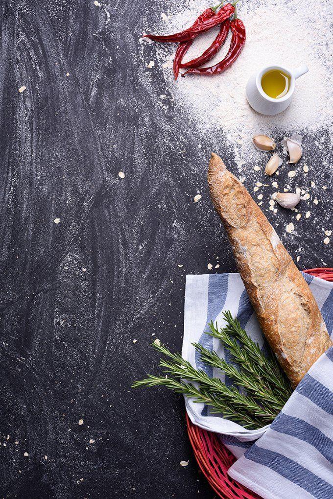 French whole grain baguette by Iuliia Leonova on @creativemarket