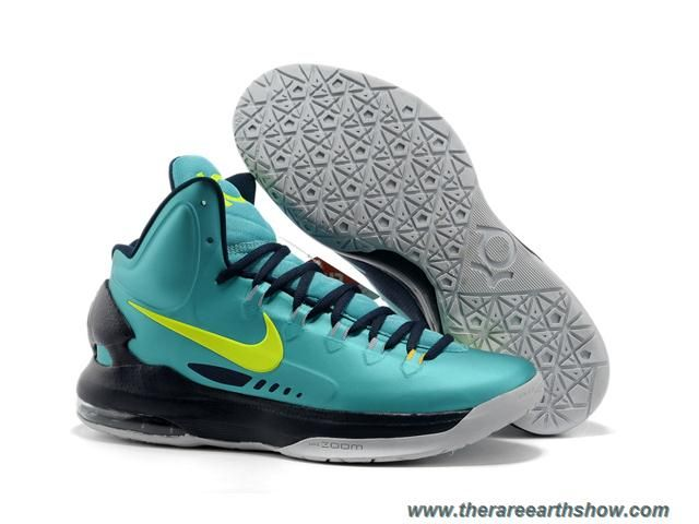 Wholesale Cheap 554988 300 Nike Zoom KD V Jade Black Grey Basketball Shoes  Store