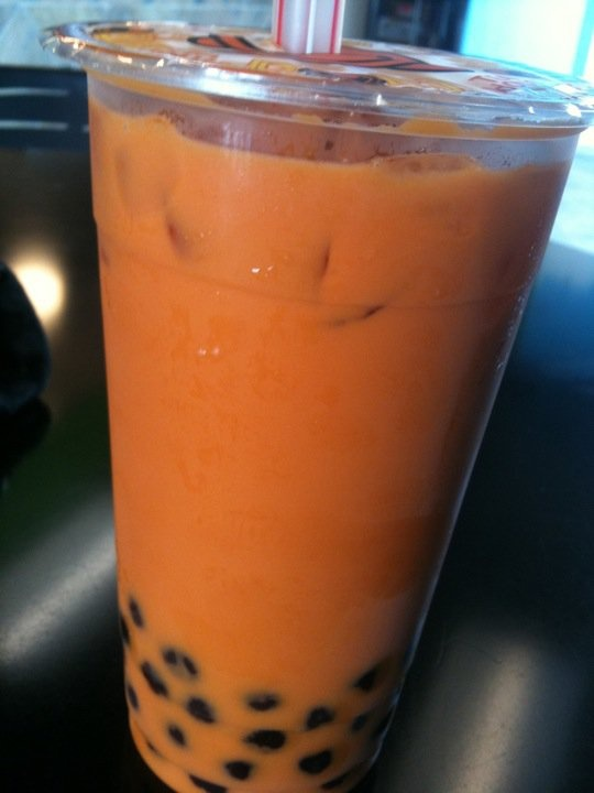 Thai Milk Tea with Boba. [I go bonkers for Boba].