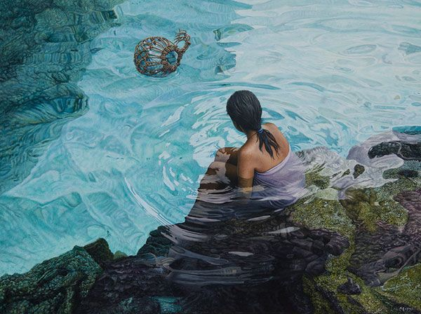 Niue Island, Polynesia artist Mark Cross