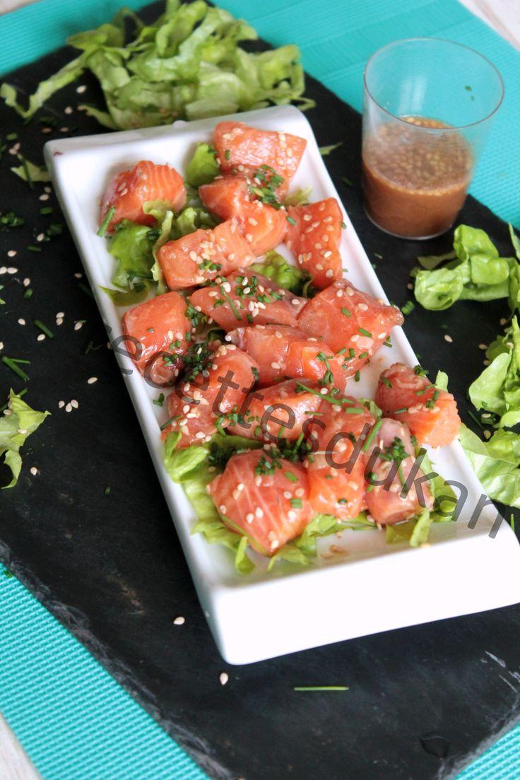 Saumon mariné express – Attaque, PP, PL, Conso, Lundi Escalier Nutritionnel