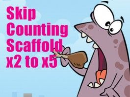 Skip Counting Bookmark Scaffold