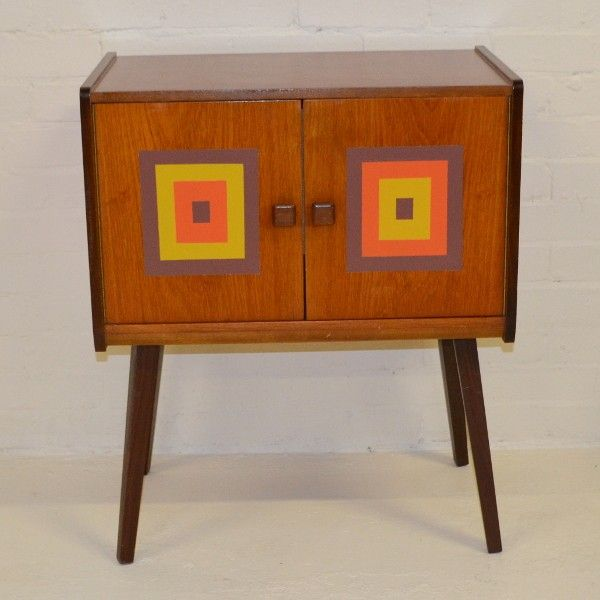 1950's Danish Style Vinyl Record Storage Unit