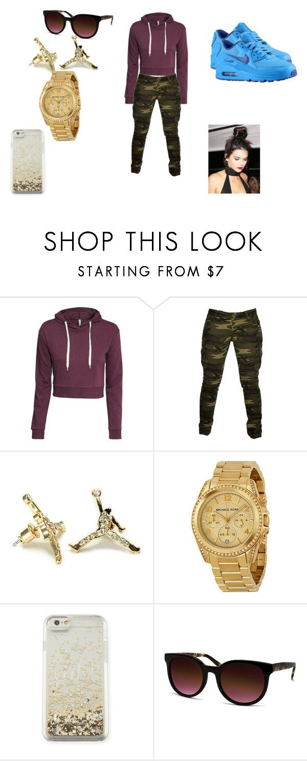 """""""work out"""" by applepie-866 on Polyvore featuring H&M, Braun, NIKE, Michael Kors, Kate Spade and Barton Perreira"""