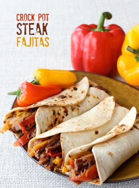 Crock Pot Steak Fajitas .. love this recipe!! super simple and delish!