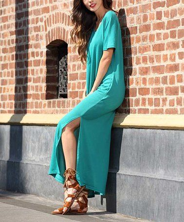 This Turquoise Maxi Dress - Plus Too is perfect! #zulilyfinds