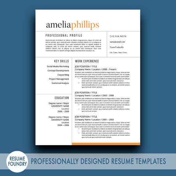 Best Modern Cv Template Images On   Resume Tips