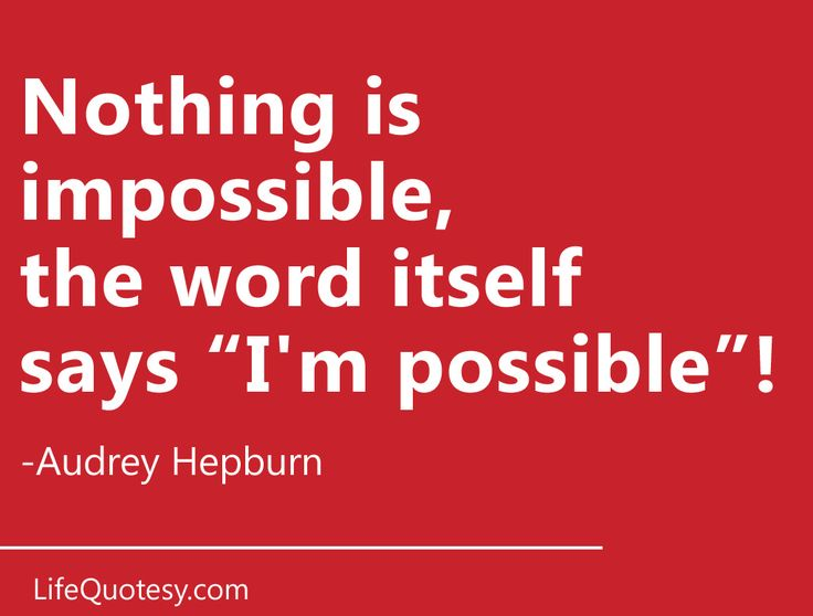 Inspirational quote by Audrey Hepburn. Send this as an eCard!