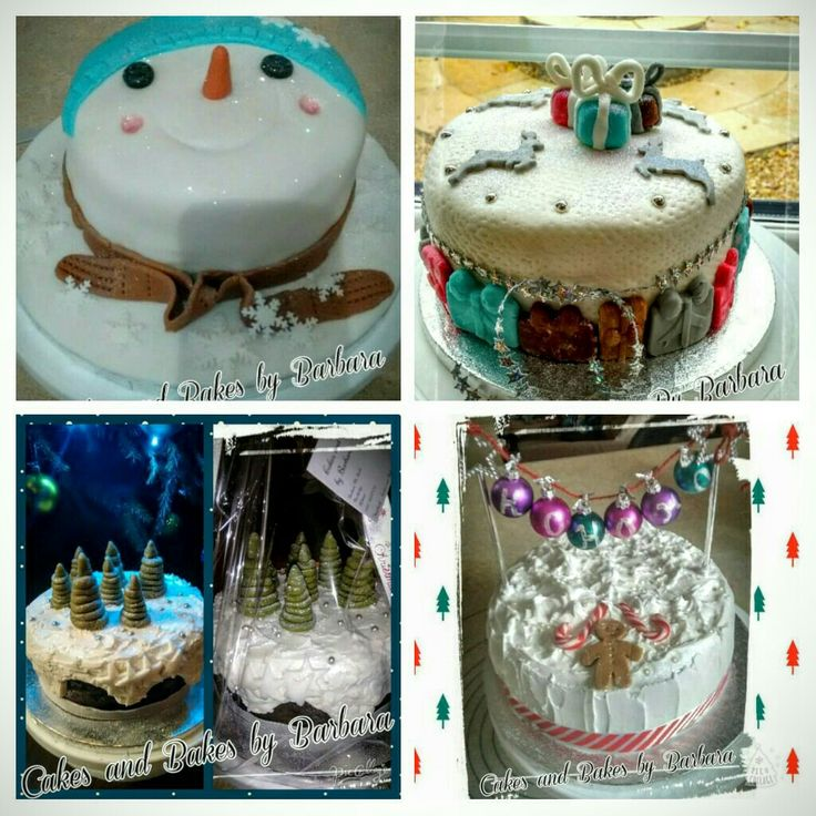 Christmas cakes I made in 2015. 💗
