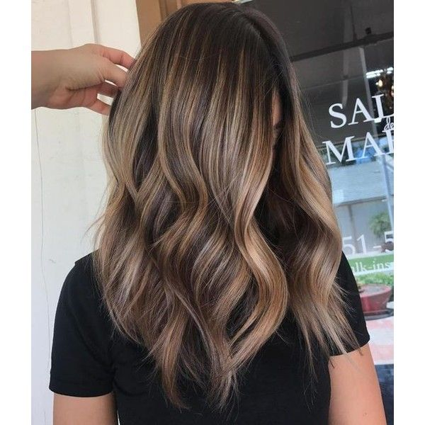 90 Balayage Hair Color Ideas With Blonde Brown And Caramel Highlights Liked On Polyvore Featuring Beauty Prod Hair Styles Long Hair Styles Brown Blonde Hair
