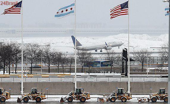 Costa leste do país é mais afetada : Previsão de nevasca nos EUA provoca cancelamento de quase 7.000 voos