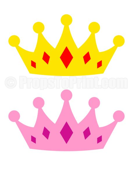 Best 25 crown template ideas on pinterest crown for Photo booth props template free download