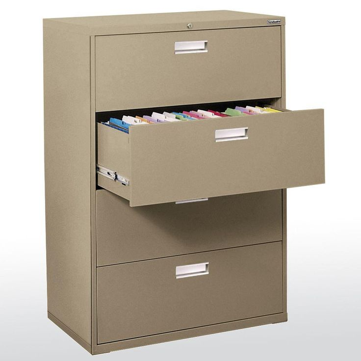 600 Series 36 in. W 4-Drawer Lateral File Cabinet in Tropic Sand