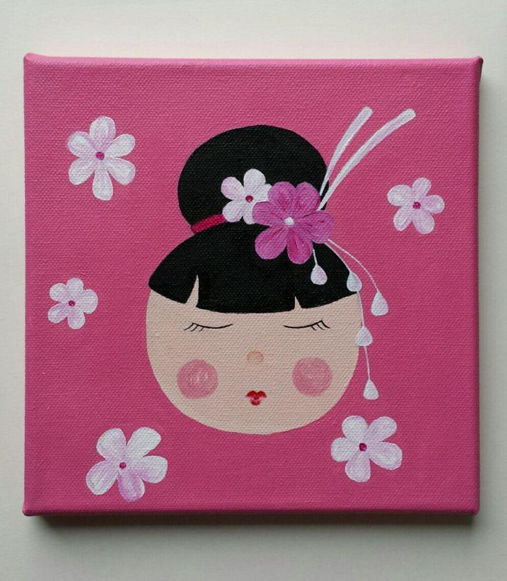 tableau chambre d'enfant avec Japonnaise