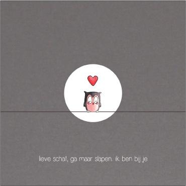 Geboorte-rouwkaartje van 'Liefkindje geboortekaartjes'