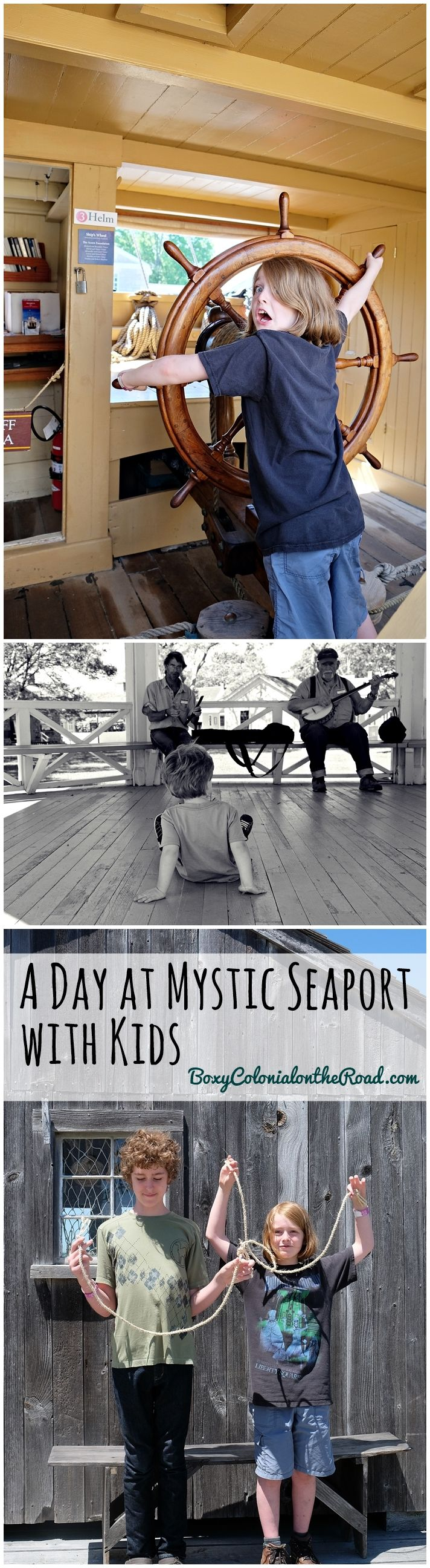 A day touring Mystic Seaport in Mystic, CT with kids