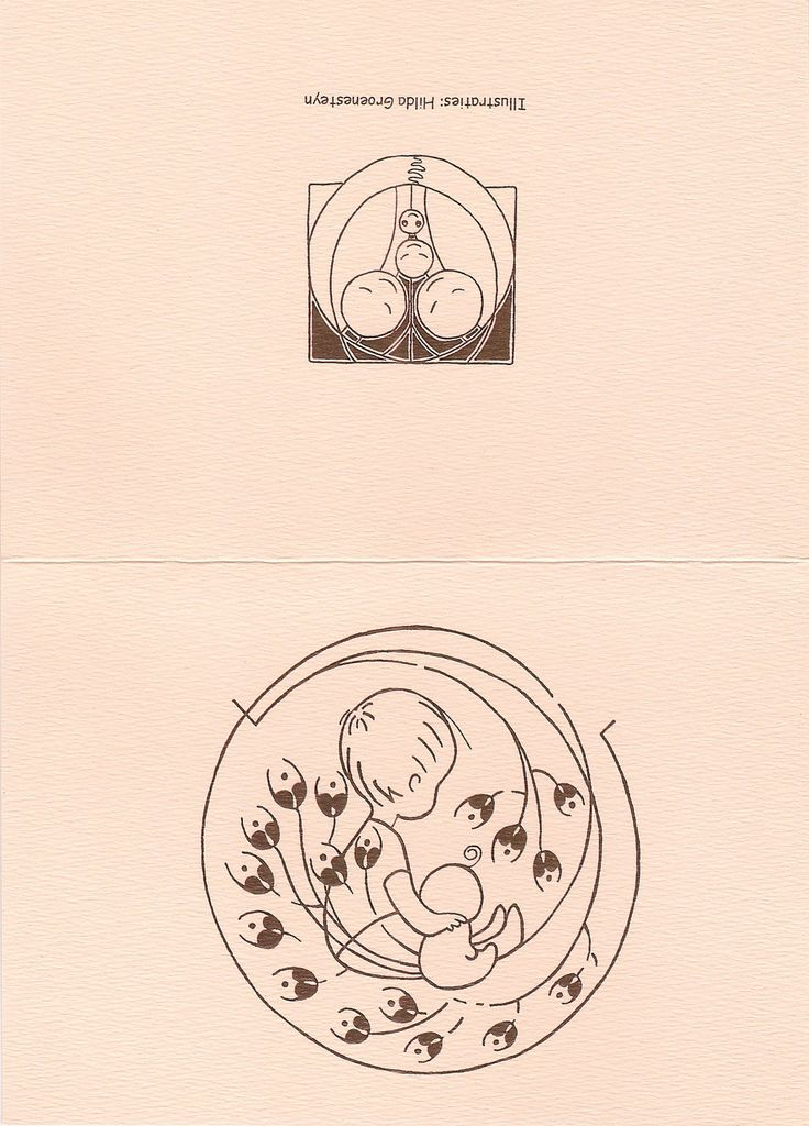 Geboortekaartje - inkt op papier   By studio Hille / Hilda Groenesteyn