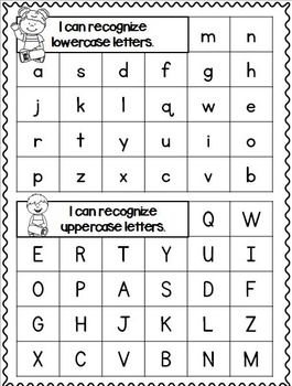 letter recognition data set best 25 kindergarten checklist ideas on 9132