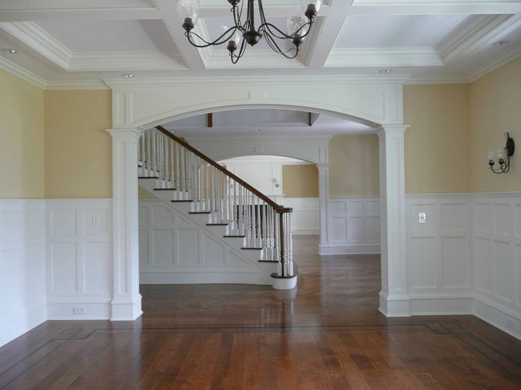 paneled archway.  millwork.