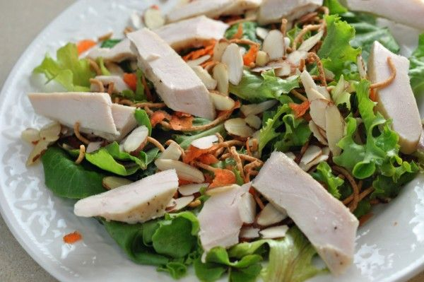 Applebee's grilled chicken oriental salad is MY FAVORITE salad ever. And here's the recipe....dressing included!!!! :)
