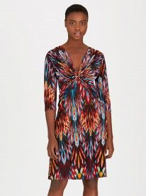 Jo Champ Crossover Drape Dress Multi-colour