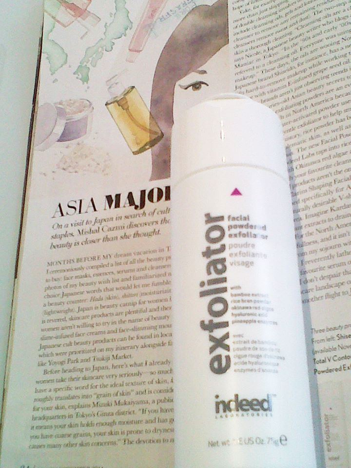 From east to west. Our powder exfoliator is in the Nov 2014 issue of Glow Magazine! #globalbeauty #exfoliate #skincare